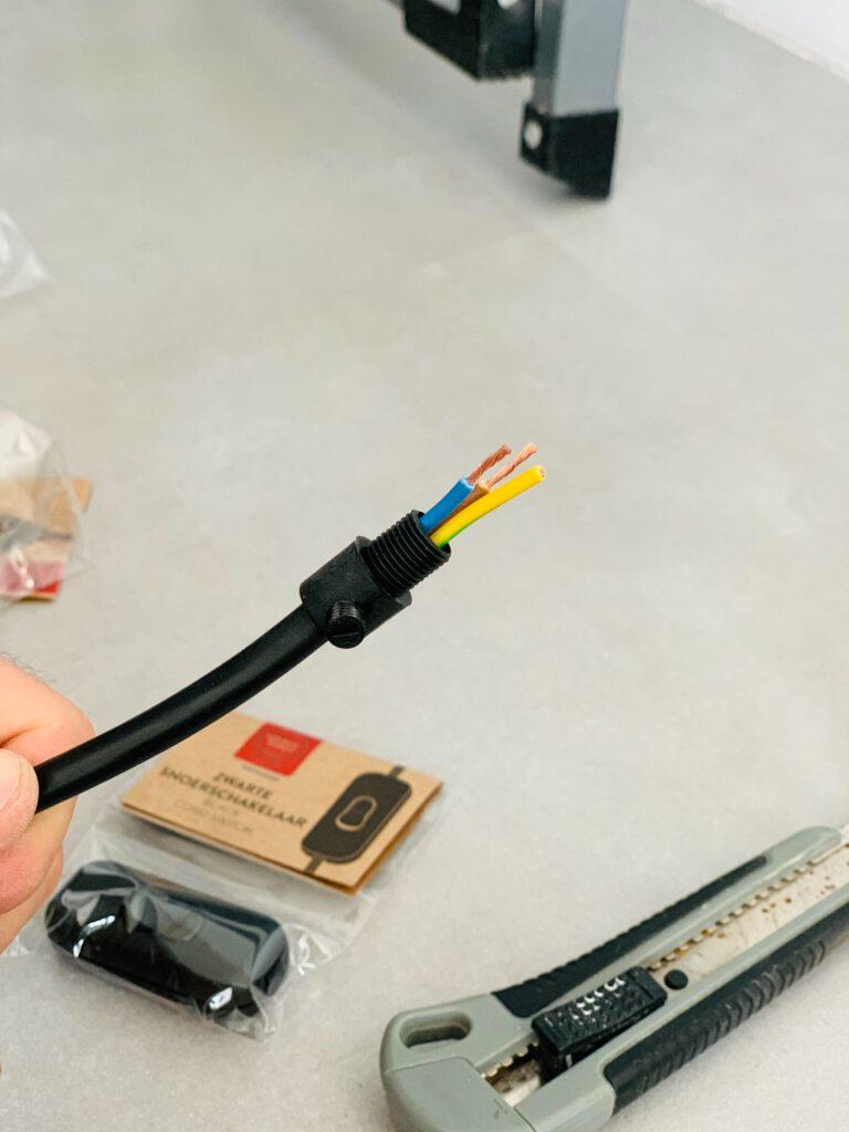 elektra kabel klaar voor fitting