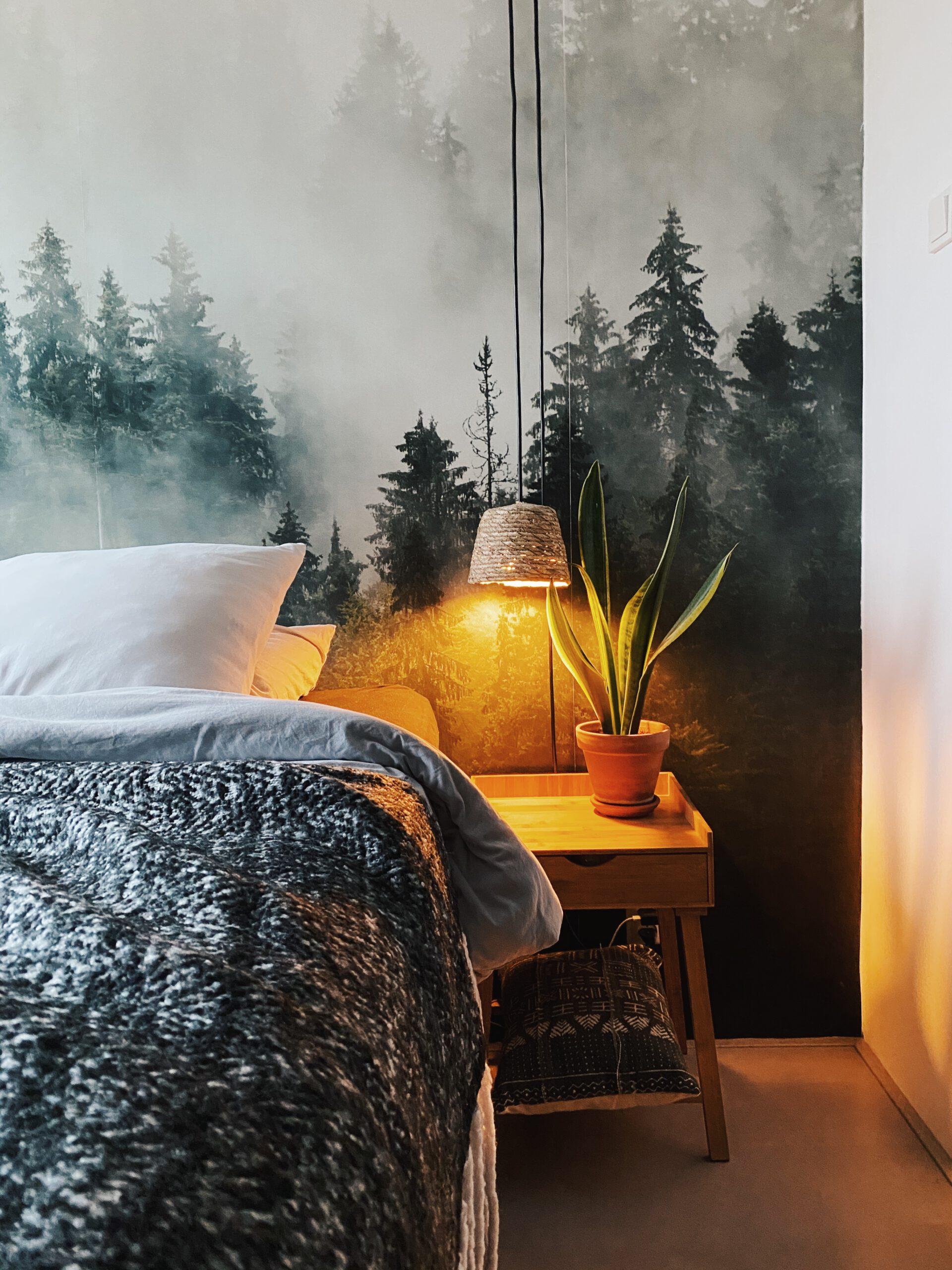 rieten hanglamp zelf gemaakt met bloempot