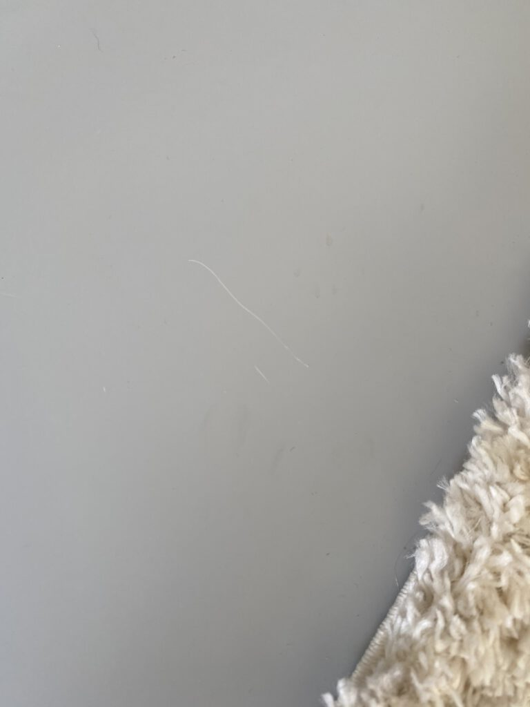 kras van kat op de vloer